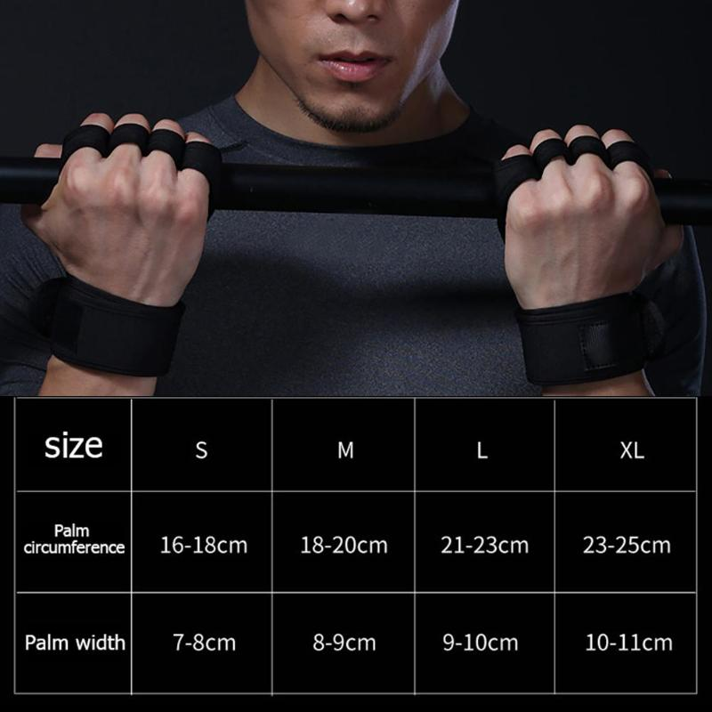 1 Pair Gym Gloves Weight Lifting Training Gloves Women Men Fitness Sports Body Building Gymnastics Grips Gym Hand Palm Protector 6