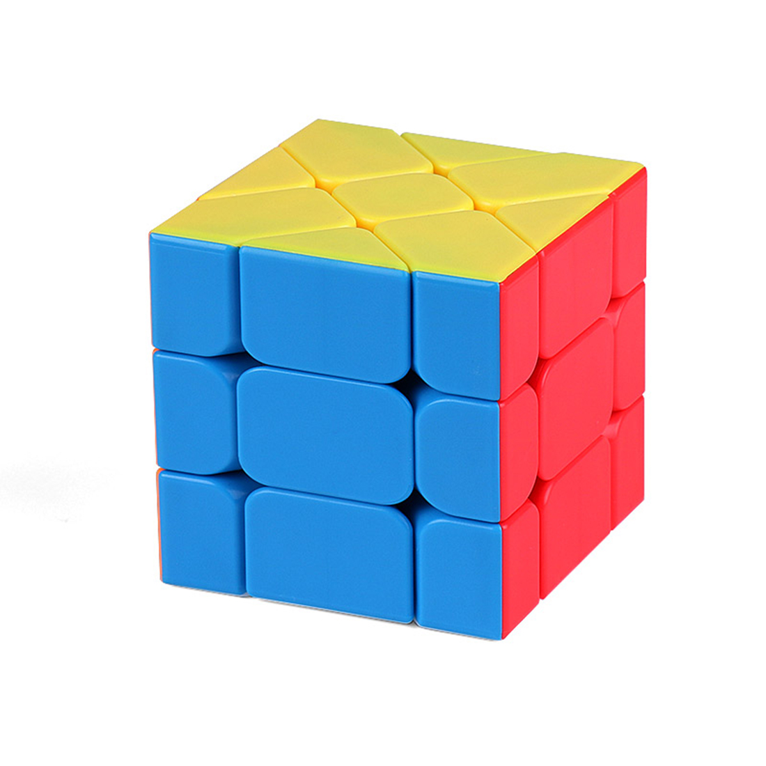 MF8848 Mofang Jiaoshi Moving Edge Type 3x3x3 Magic Cube Educational Toys For Brain Trainning - Colorful