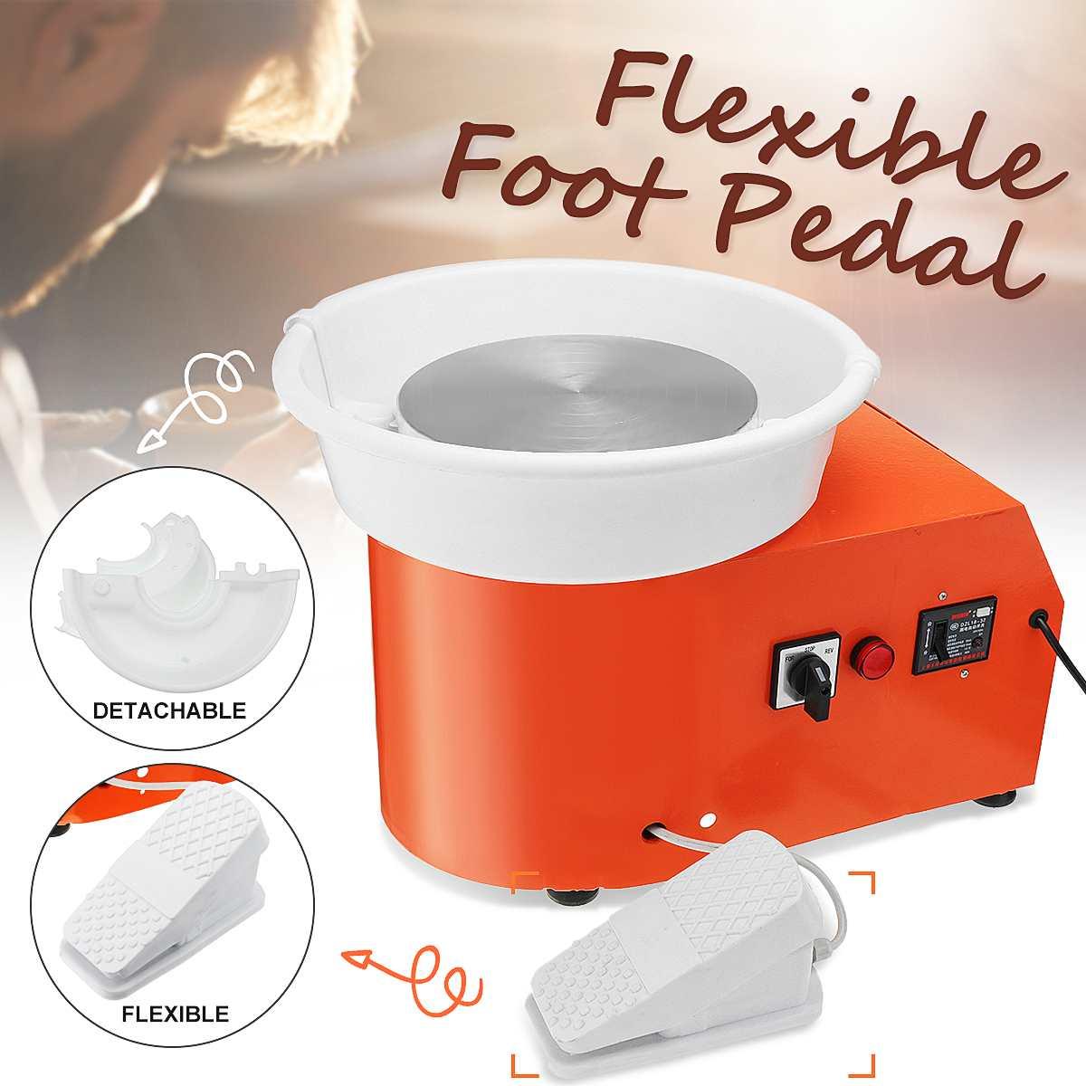 Poterie roue Machine céramique travail céramique argile pour travaux pratiques outil Art avec pédale Flexible 220 V AU Plug 350 W détachable formant
