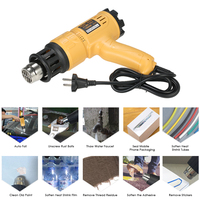 1800W Electric Hot Air Gun Fast Heating Hot Air Gun Adjustable Temperature Hot Heat Shrink Blower Tool with 4 Nozzles