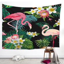 Tropical Paradise Birds Musa Basjioo Banana Leaves Tapestry Cloth Home Decoration Blanket Curtain