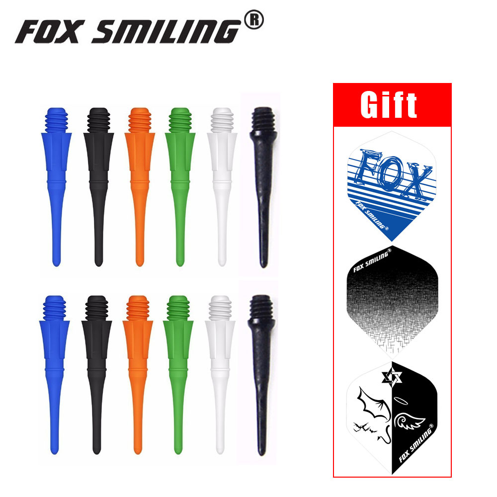 Fox Smiling 50pcs 25mm Colorful 2BA Professional Dart Soft Tip For Soft Tip Darts And Electronic Darts Tip With Good Quality цена
