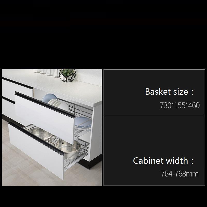 Despensa Gabinete Drawer For Accesorios Organizar Para Armario Pantry Stainless Steel Organizer Cuisine Kitchen Cabinet Basket in Racks Holders from Home Garden