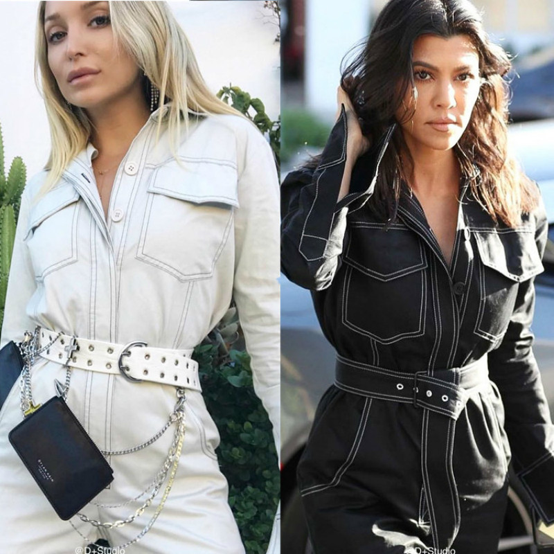 Blanc denim barboteuse femmes combinaison corps mujer une pièce streetwear body sexy combishorts manches longues combinaison femme bodys