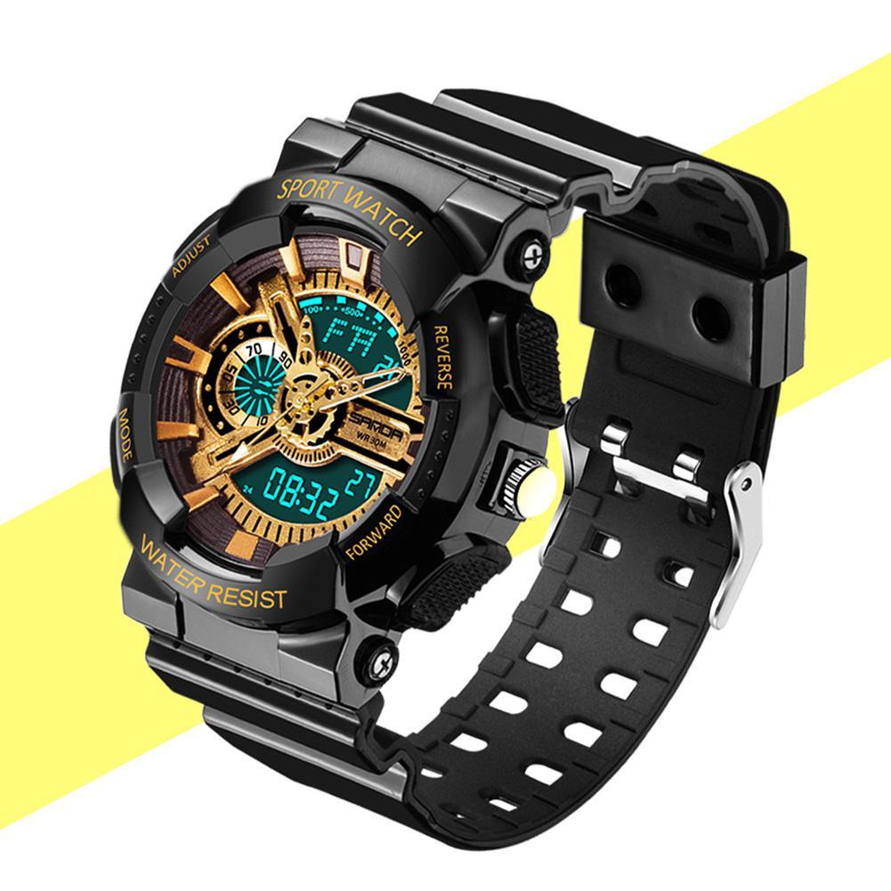 Sanda Women Men Fashion Watches LED Digital Watches Waterproof Sports Outdoor Watches