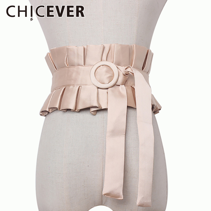 CHICEVER 2020 Summer Vintage Ruffles Cummerbunds Women Female Belts Wild Slim Bandage Women's Belts Fashion Casual