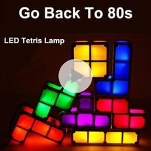 DIY tetris light lamp kids led night light tetris stack desk lamp best gift for Children birthday present boys novelty lighting tetris effect