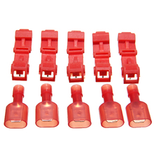 220Pcs T-Tap Type Quick Splice Electrical Wire Crimp Terminal Connector Kit  Crimp Terminal Replacement Wire Connectors 40pcs blue t tap insulated quick splice wire terminal spade crimp connector combo set 2 5 4 0mm2 awg 16 14