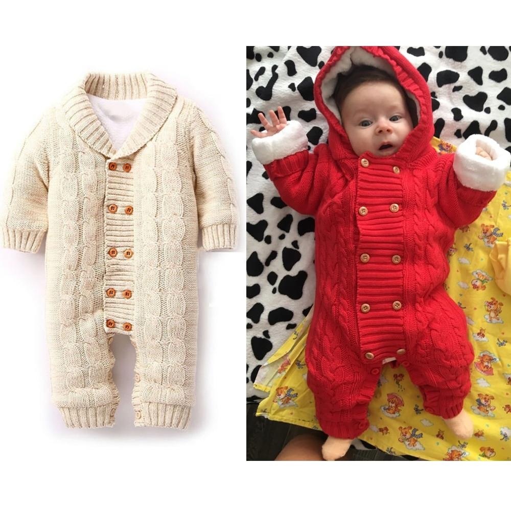 6c5d1562fe36 Thick Warm New Born Baby Unicorn Rompers Winter Clothes Newborn Boy ...