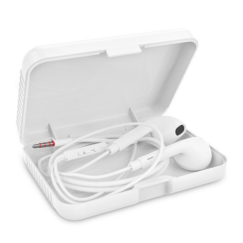 Earphone Storage Carrying Hard Bag Box Case For Earphone Headphone Accessories Earbuds Memory Card USB Cable SD Card