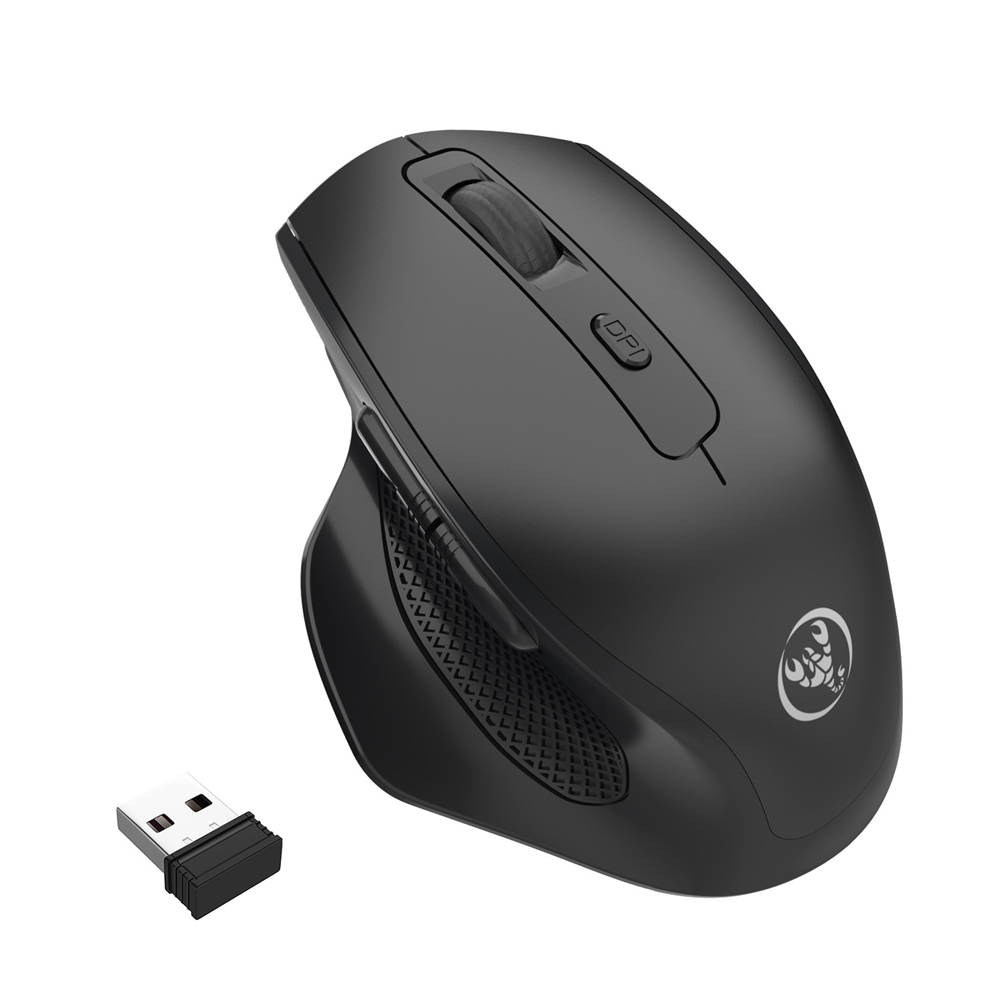 Hxsj 2 4G Receiver Wireless Game Mouse Adjustable 2400Dpi 6 Buttons Rechargeable Vertical Healthy Mouse Mice
