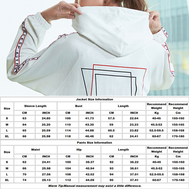 BINAND Side Letter Print Drawstring Women Yoga Suit Zip Up Hooded Jacket Pocket Breathable Dry Fit Fitness Gym Loose Sportswear