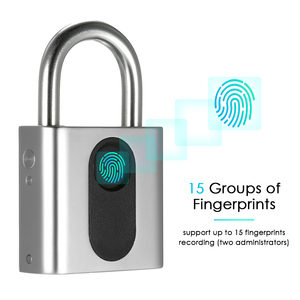 Image 3 - Smart Keyless Door Lock USB Rechargeable Fingerprint Lock IP65 Waterproof Anti Theft Security Padlock Luggage Case Backpack Lock