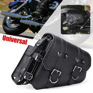 Left Right Universal PU Leather Motorcycle Saddlebag Side Tool Luggage Bags Saddle Bags for Honda/Suzuki/Kawasaki/Yamaha
