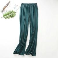 2019 Для женщин брюки модал Демисезонный снизу свободно пижамные штаны Женская пижама брюки клеш женский досуг домашние штаны