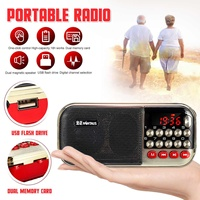 Portable Mini Radio FM MP3 One click Cycle/Search Digital Channel Selection Wireless Dual Magnetic Speakers support Card U Disk