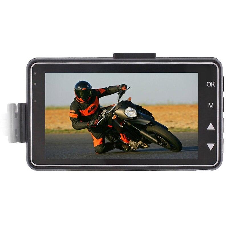 3 ''HD moto DVR double lentille 120 degrés moto conduite enregistreur avant arrière caméra boucle enregistrement - 2