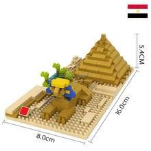 LegoINGlys creators city Street view Sphinx Cheops Pyramid Egypt nano micro diamond building blocks model bricks toys for gifts