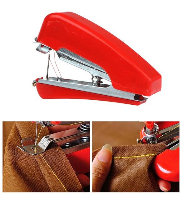 Handheld Mini Naaimachine Handleiding Portable Home Reizen Kleine DIY Handwerken Draadloze Machine Doek Stof Steek Accessorie