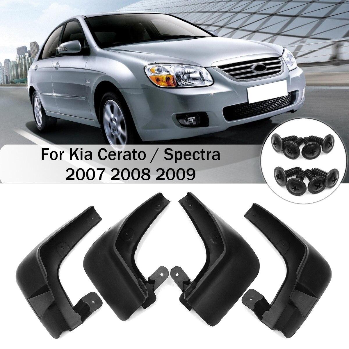 4pcs Car Mud Flaps Front Rear Fender Flares Splash Guards for Kia Cerato/Spectra 2007 2008 2009 Mudflaps Mudguards