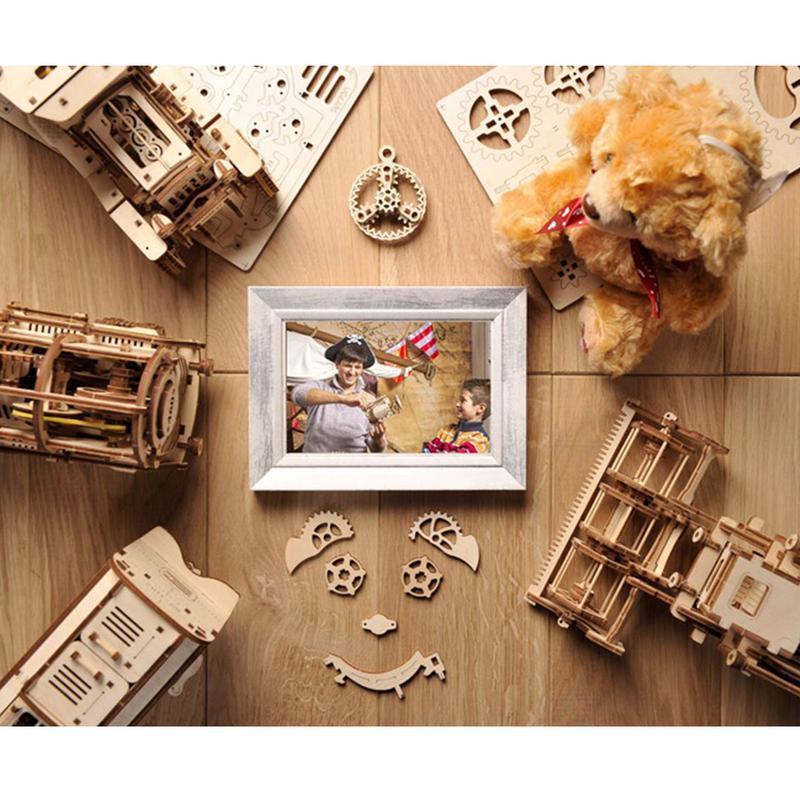 Bricolage créatif 3D assemblage en bois Puzzle jouet serrure innovante boîte au trésor Transmission mécanique romantique saint valentin cadeau - 3