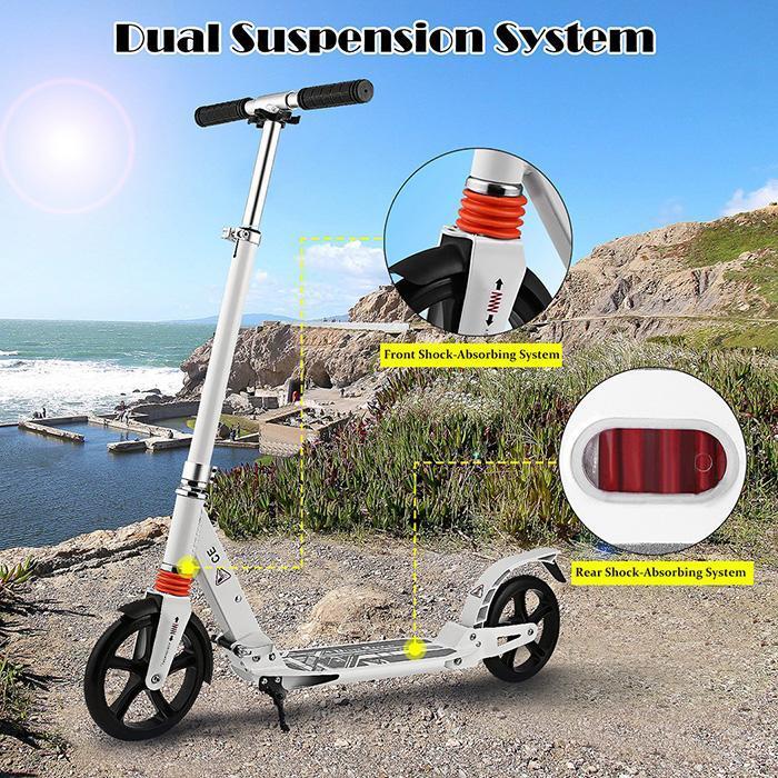 Alliage d'aluminium pliable léger réglable en hauteur de Scooter de pied botte le dégagement d'adultes de conception de t-style de Scooters