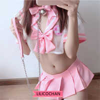 Original Design Cute Sailor Pink Dress Lolita Cosplay Costume School Girl Uniform Outfit sexy Kawaii lingerie set underwear