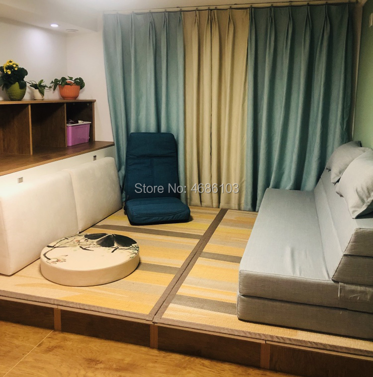 Style de l'asie du sud-est 150x180 cm bambou tissage Tatami tapis chambre d'enfants 3d tapis tapis et tapis pour la maison salon