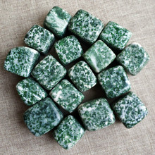 Natural green stone gravel small square crystal stone ornaments fish tank flower decoration stone ore specimen цены