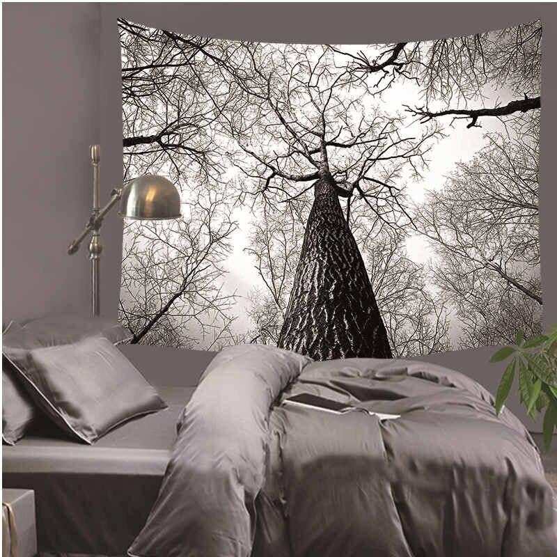 Гобелены Удивительный Туманный лес Красивый Взгляд Печатный Дерево Натуральные Пейзажи Гобелен