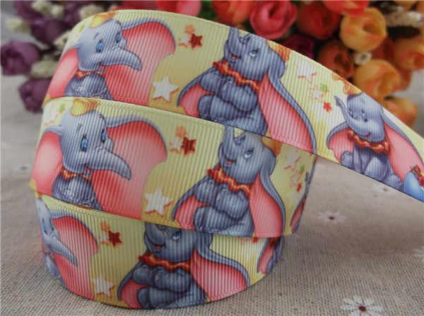 Nuovo arrivo 1 ''25mm stampato nastro del grosgrain del nastro del fumetto elefante animale del nastro 5 metri
