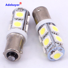 1PCS Car Auto BA9S t11 9SMD 6523 1895 W6W T4W 9 led smd 5050 Light 12V steering turn clearance reading Panel interior Dome light(China)