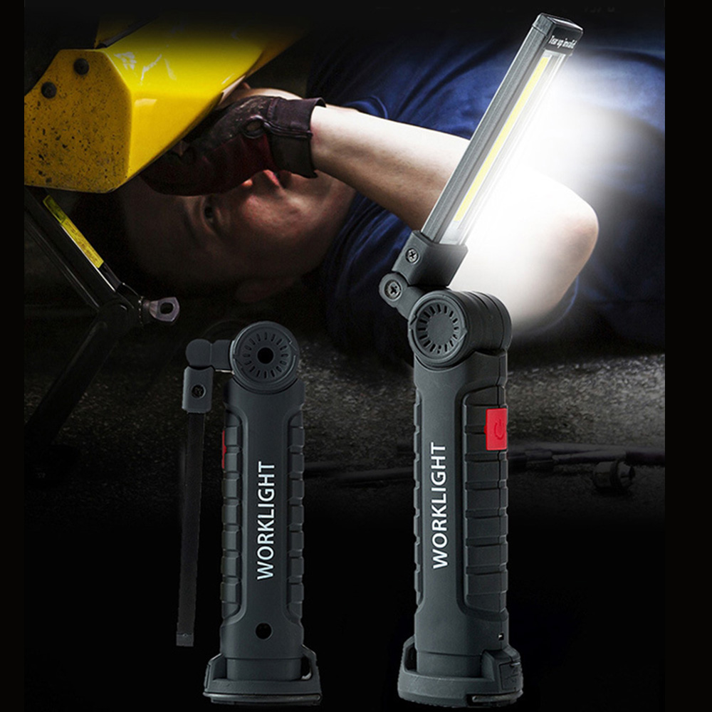 Portable 5 Mode COB Flashlight Torch USB Rechargeable LED Magnetic Tent Lamp
