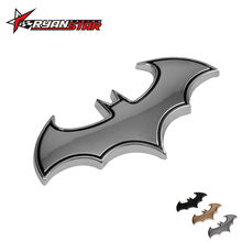 Ryanstar -- 1pc Car Accessories 3D Metal Bat Car Styling Car Stickers Metal Batman Badge Emblem Tail Decal Motorcycle(China)