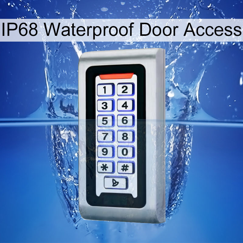 Keypad RFID Access Control System Waterproof IP68 Metal Case 125KHz Proximity Card Standalone Access Control With 2000 Users