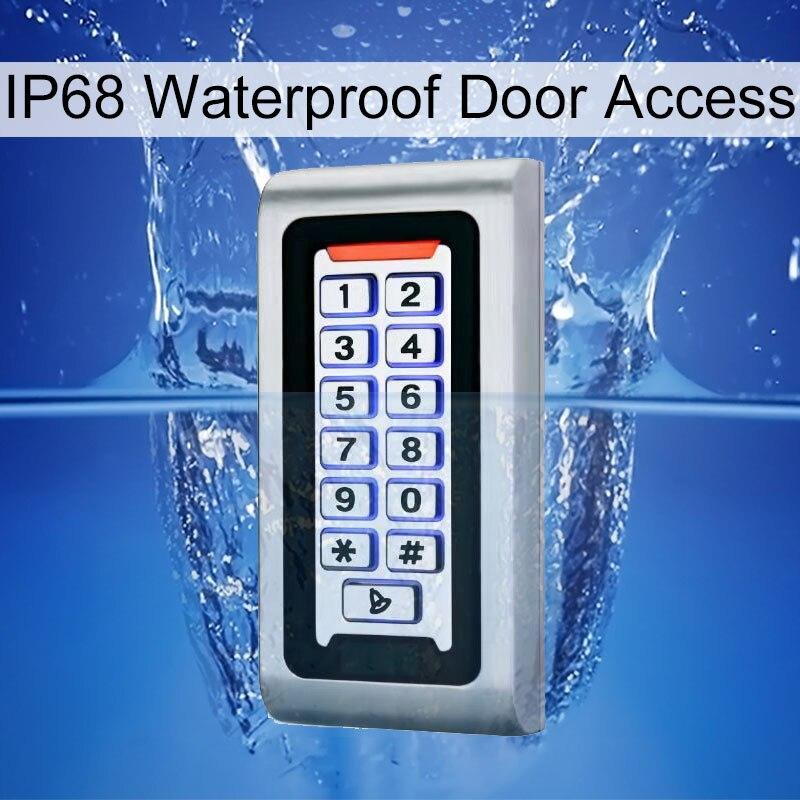 Clavier système de contrôle d'accès RFID étanche boîtier en métal IP68 125 KHz carte de proximité contrôle d'accès autonome avec 2000 utilisateurs