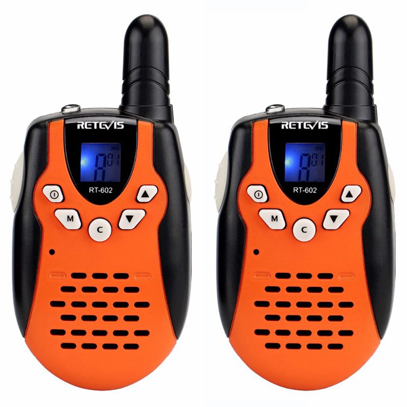 RETEVIS 2pcs Children Walkie Talkie For Kids RT602 0.5W PMR 8/22CH PTT Flashlight Rechargeable Battery Mini 2 Way Radio RT-602