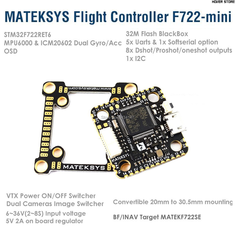 Matek Systeme F722 Mini Flight Controller OSD Dual Gyro/Acc 32 M Flash 5 V/2A BEC FC für RC Drone FPV Racing Drone Teil DIY Accs-in Teile & Zubehör aus Spielzeug und Hobbys bei AliExpress - 11.11_Doppel-11Tag der Singles 1