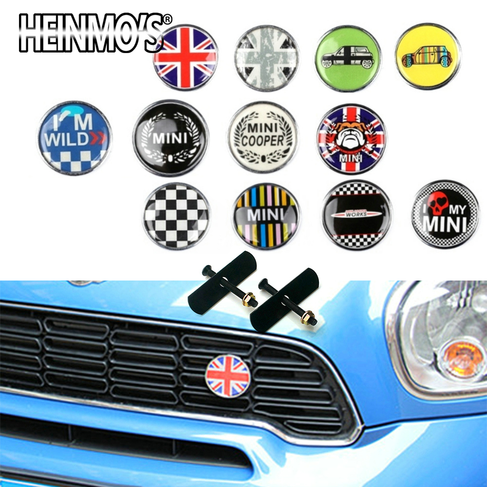 For MINI Cooper S One Car Styling Front Grill Sticker Accessories For MINI Countryman R50 R53 R55 R56 R60 R61 F54 F55 F56 F60