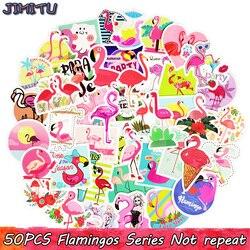 50 PCS Flamingos Aufkleber Nette Anime Traum Kreative Aufkleber Aufkleber für Kinder DIY Laptop Koffer Bike Gepäck Gitarre Aufkleber