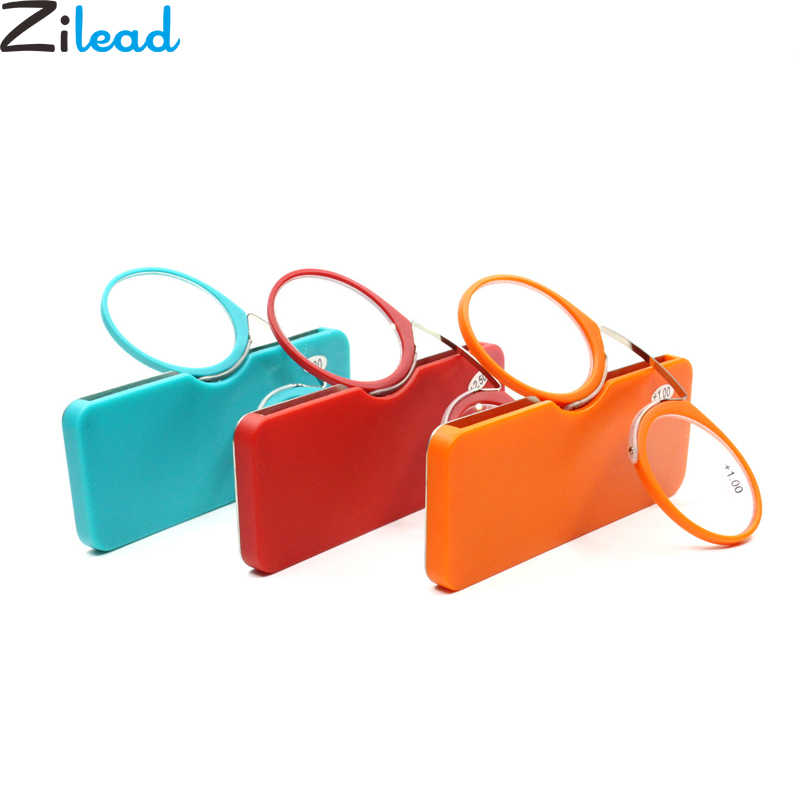 Zilead Ultralight Nose Clip Reading Glasses Card Stype SOS Pince Nez Optical Presbyopic Glasses Men& Women+1.0+1.5+2.0+2.5+3.5