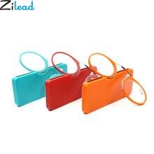 Zilead сверхлегкие очки для чтения с клипсой на носу пенсне