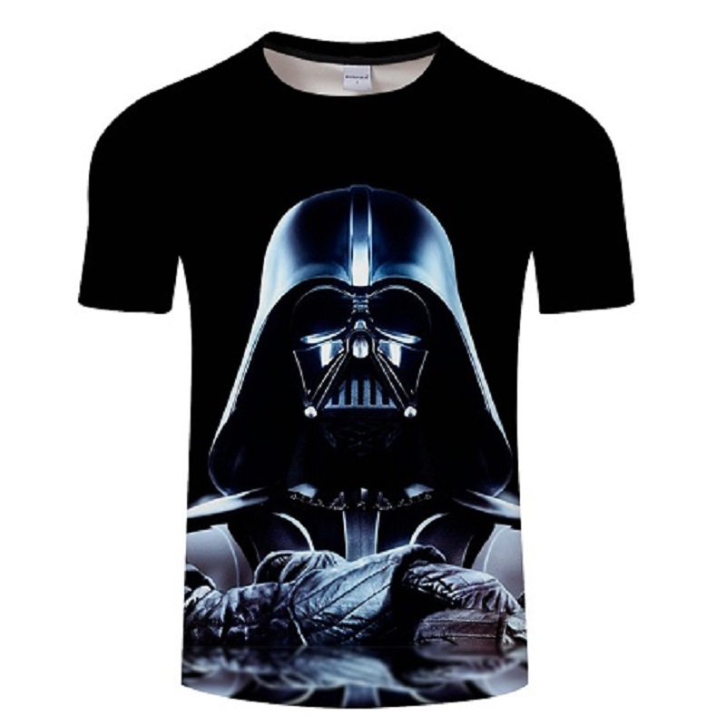 Men Darth Vader Heavy Metal printing Designer Funny T Shirts Short Sleeve Tee Creative fashion star wars t-shirts Hip Hop Tops