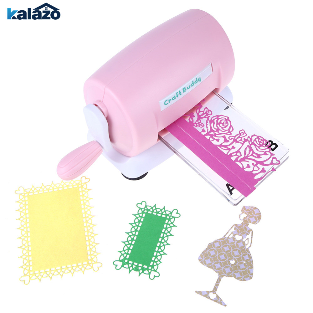 1PC Pink DIY Scrapbooking Dies Cutter Paper Card Die Cut Machine Home Dies Cutting Embossing Machine