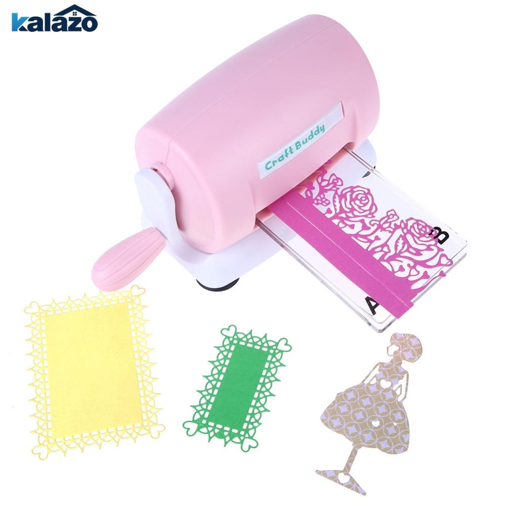 1 PC Roze DIY Scrapbooking Sterft Cutter Papieren Kaart Gestanst Machine Thuis Sterft Cutting Embossing Machine Tool-in Deeg snijder machine van Huis & Tuin op  Groep 1