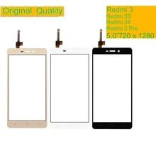 10Pcs/lot ORIGINAL For Xiaomi Redmi 3 3S Pro 3X Touch Screen Digitizer Panel Sensor Front Outer Glass Touchscreen