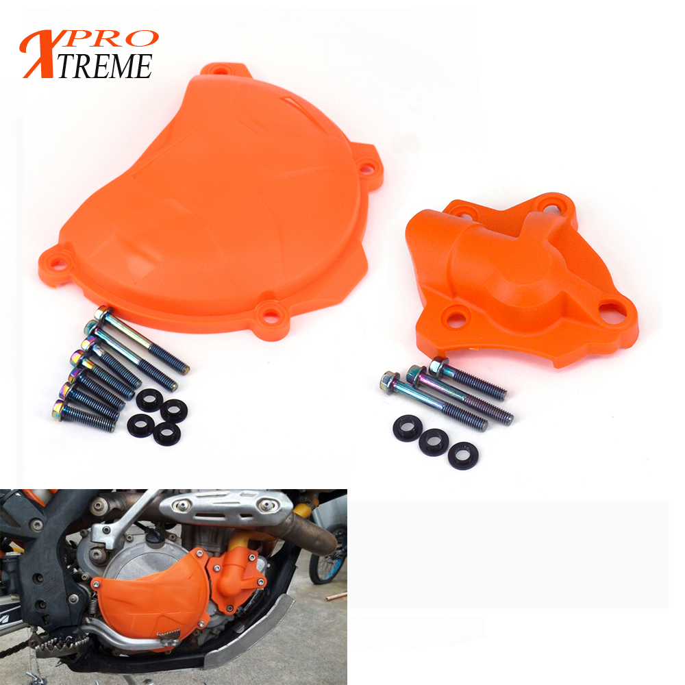 Motorcycle Engine Clutch Cover Water Pump Guard kit Protection Protector For <font><b>KTM</b></font> 250 <font><b>350</b></font> SXF EXCF XC-F XCF-W 2013 <font><b>2014</b></font> 2015 2016 image