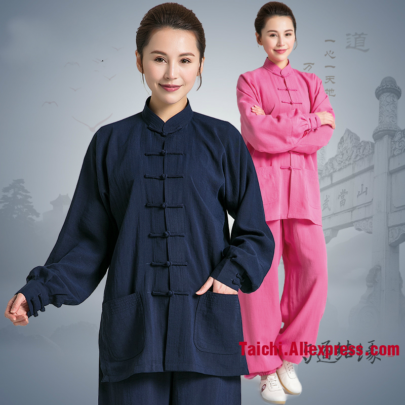 Tai Chi Uniform 100% Linie  TaiChi Suits Traditional Kung Fu Clothing For Your Tai Chi Exercise 11 Colors