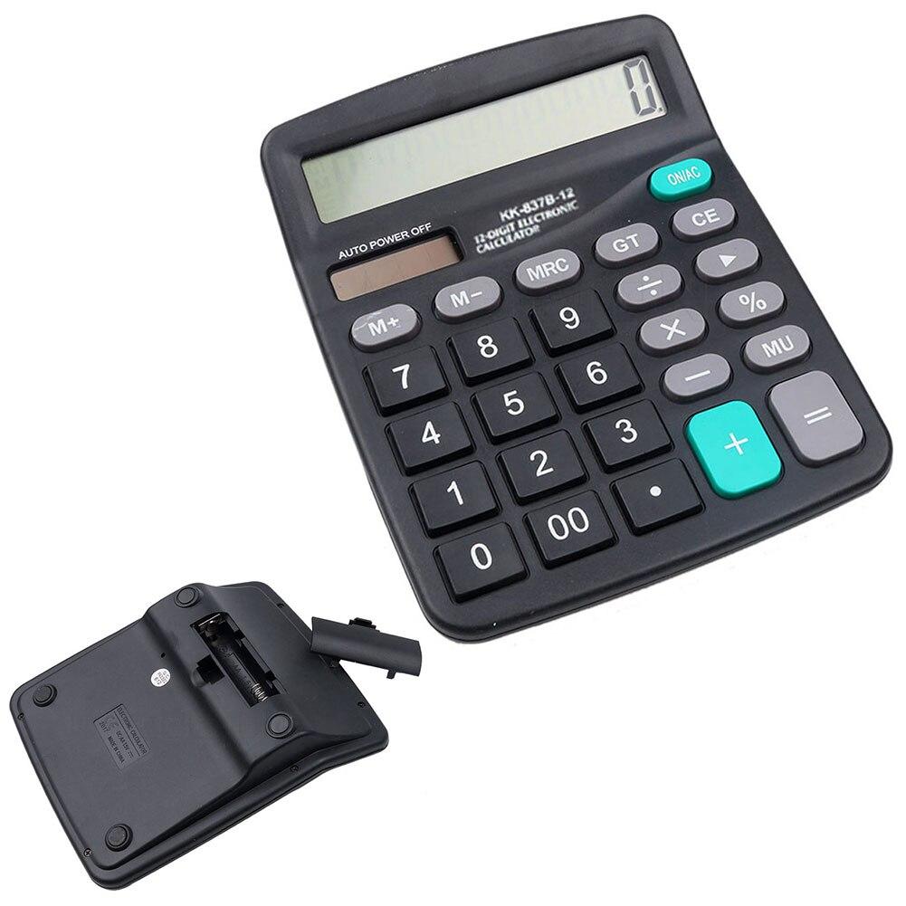 H1001 Calculator, Function Desktop Calculator, Solar Office Calculator (Black)