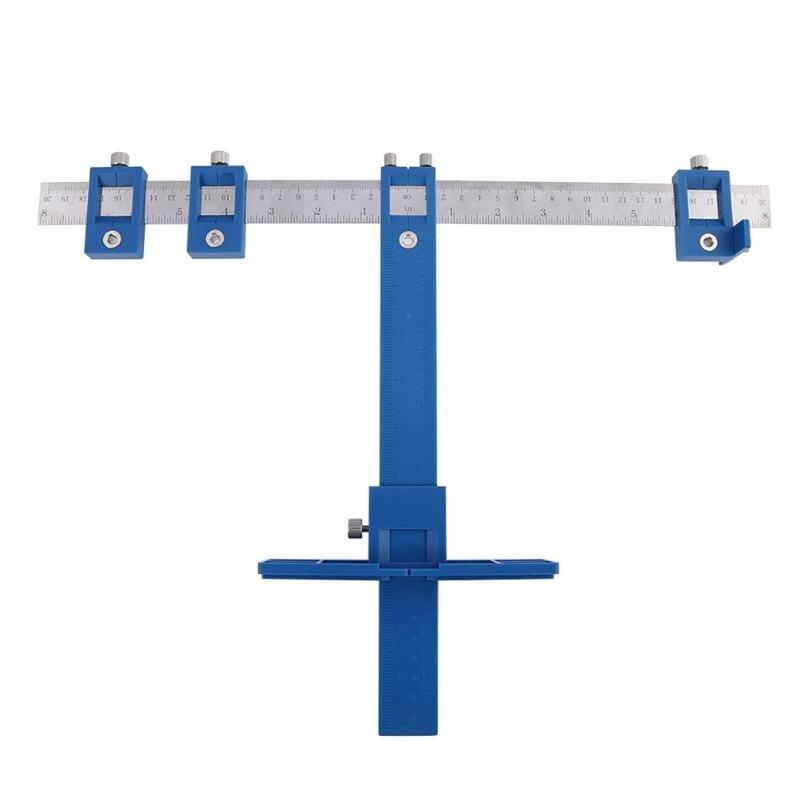 Multi-función de perforación golpe localizador muebles de madera ventanas de herramientas de perforación de la carpintería Dowelling agujero VI ajustable